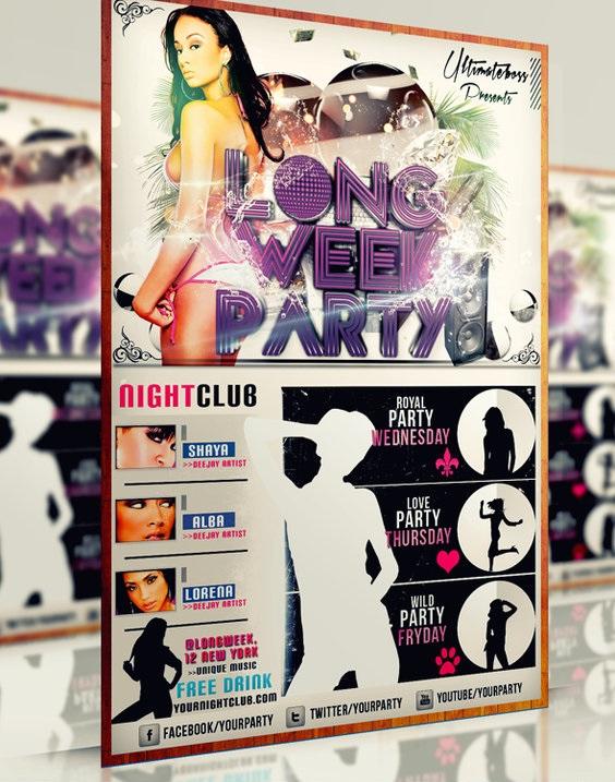 Long Week Party flyer