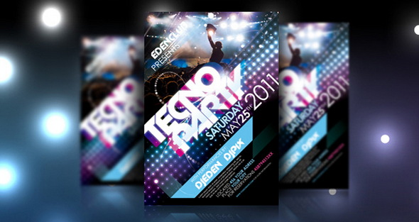 tecno-party-flyer-template