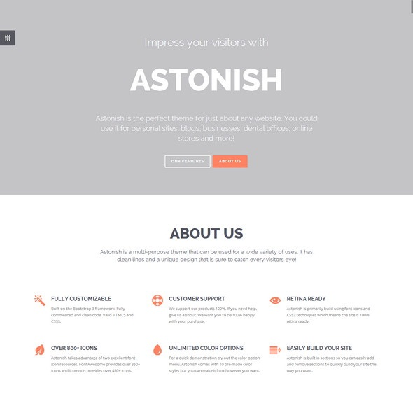 Astonish HTML5 Theme