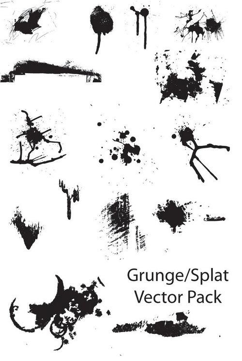 Grunge-Splat vector pack