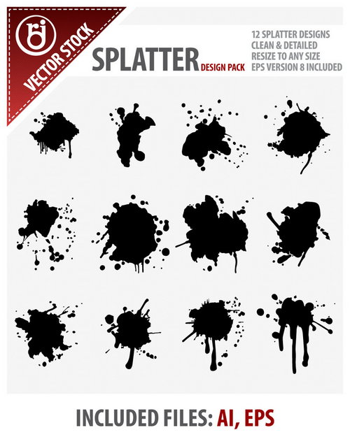 Splatter Design Pack
