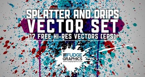 Splatter-and-Drips-Vectors