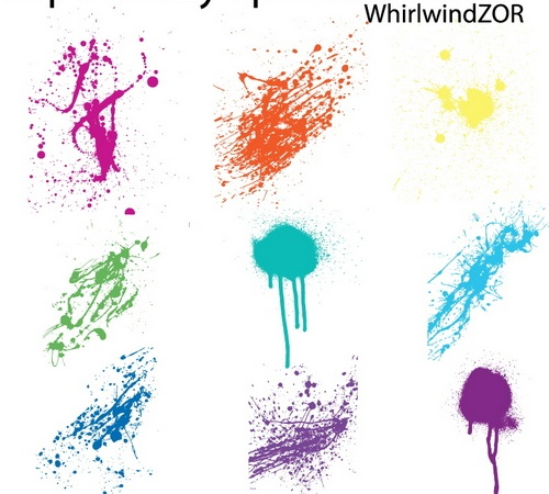 15 sets of Free Illustrator Splatter Brushes and Vector