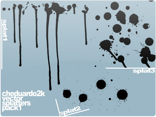 crazy Free Illustrator Splatter vector