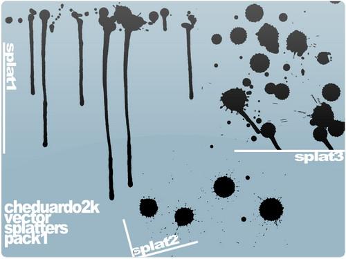 crazy Free Illustrator Splatter vector