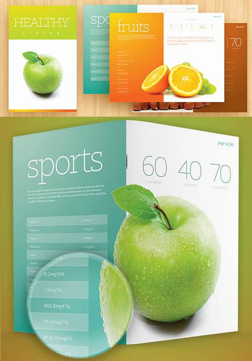 modèle de brochure frais PSD