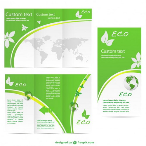 green-brochure-vector