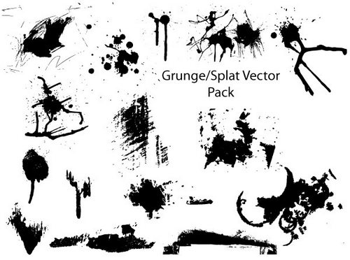 grunge-splatter-vector-pack