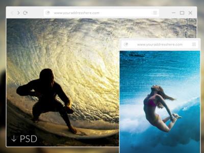 Flat Browser - PSD