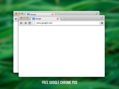 Free Google chrome PSD