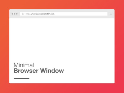 Free minimal browser window