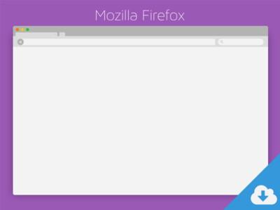 Mozilla Firefox PSD