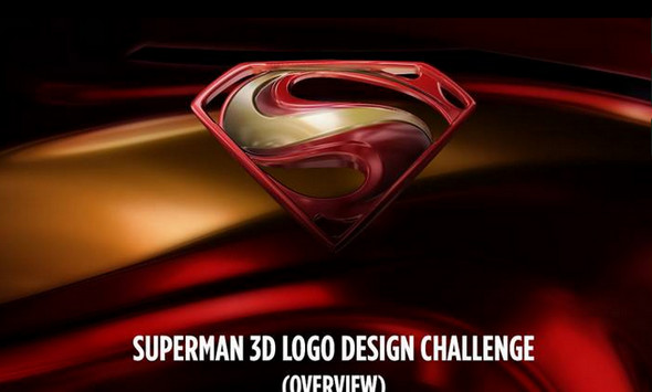 Superman 3D Logo Design