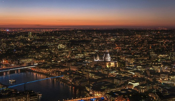 London Borough of Southwark by night