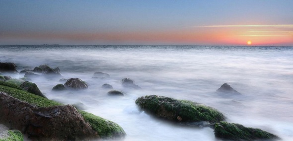 sunset long exposure
