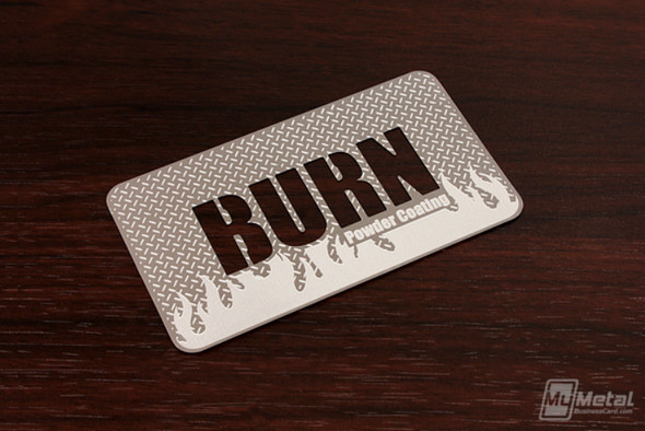 Diamond Plate Stainless Steel Business Card