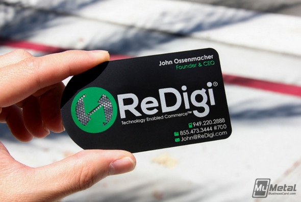 ReDigi Black Metal Business Card