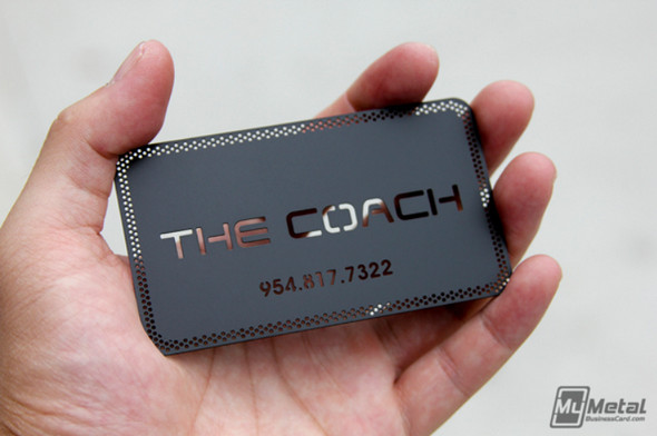 The Coach Black Metal Business Cards