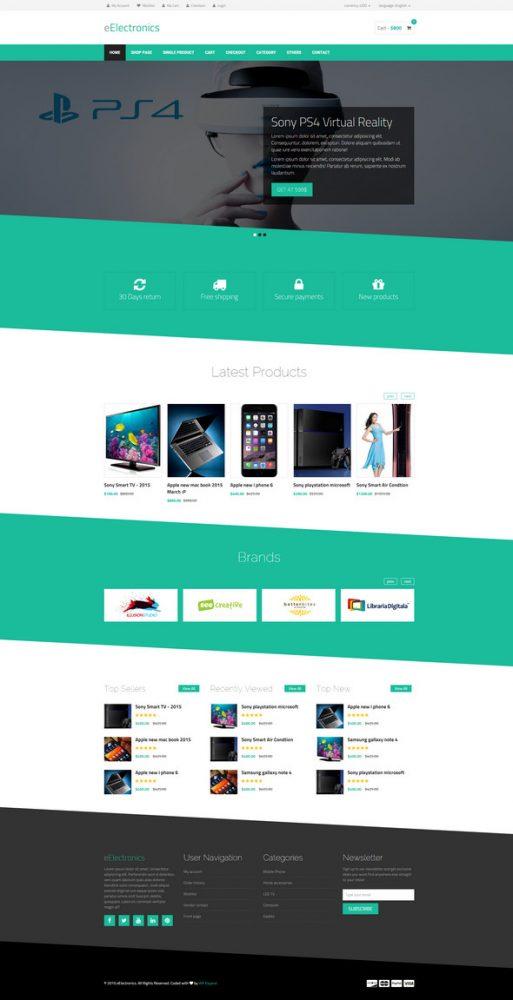 electronics store html