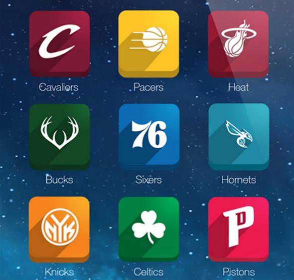 NBA Long Shadow Icons
