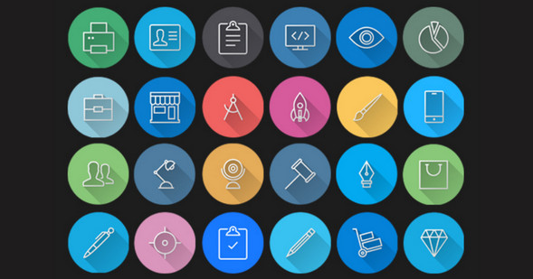 iOS7 Icons - Colorful Flat Icons Pack