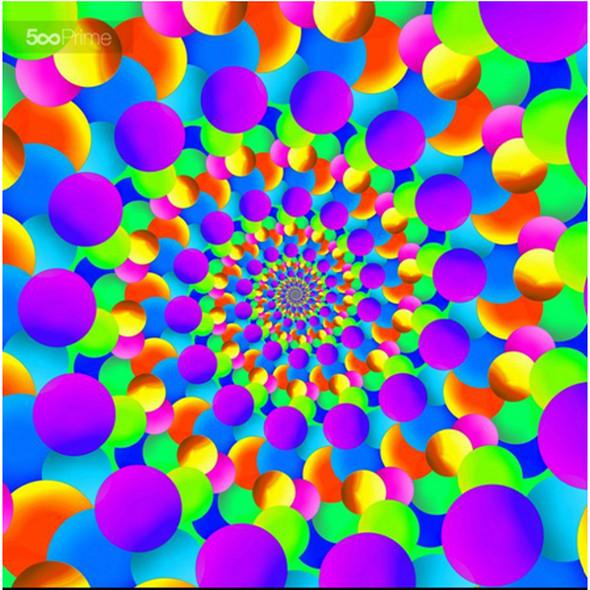Abstract art hippie pattern