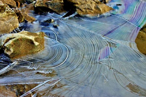 Interesting ice pattern