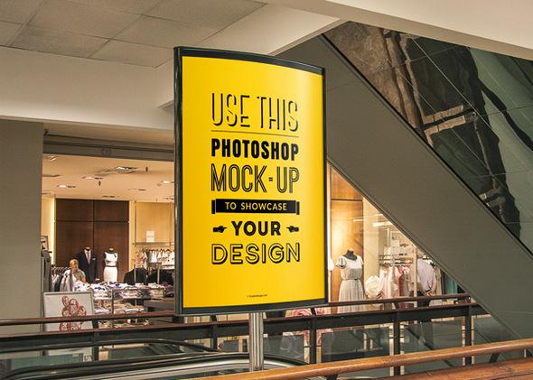 32 Free Photoshop PSD Flyer/Poster Mockups
