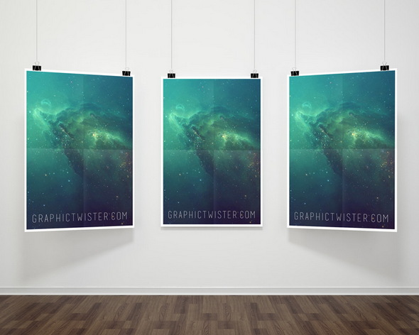 hanging paper poster