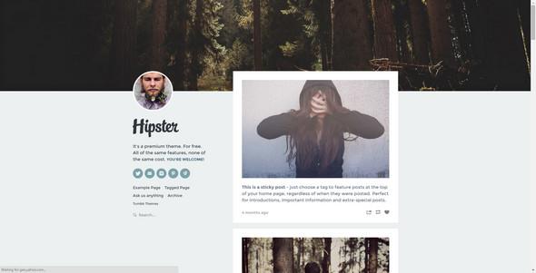 hipster tumblr theme