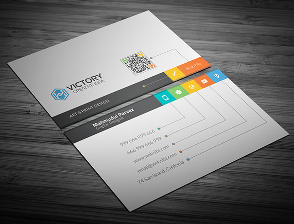 50+ Best Free PSD Business Card Templates
