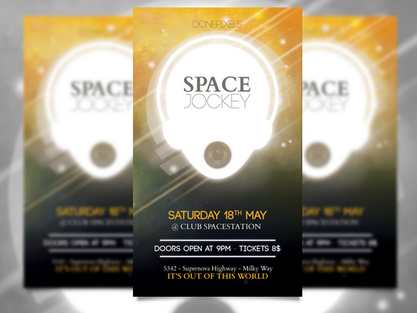 Free Photoshop PSD Flyer Templates