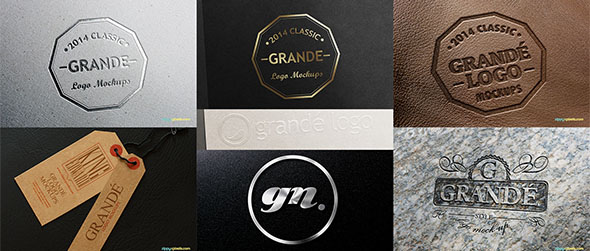realistic 3d logo mockups for download