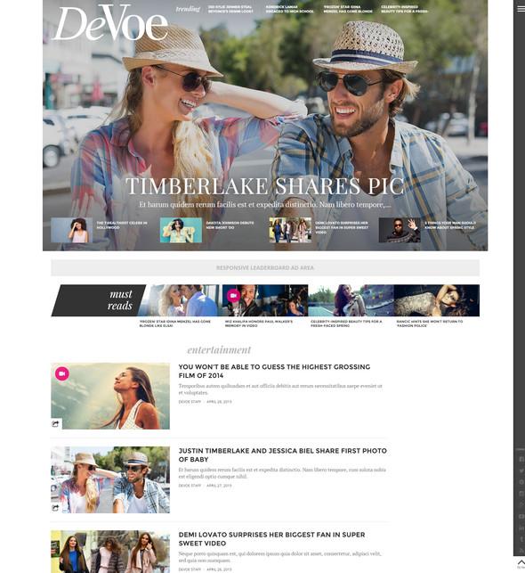 fashion magazine theme for wordpress
