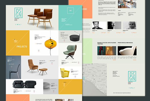Design Template psd for architects