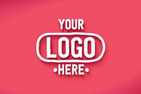 a free psd 3d logo mockup
