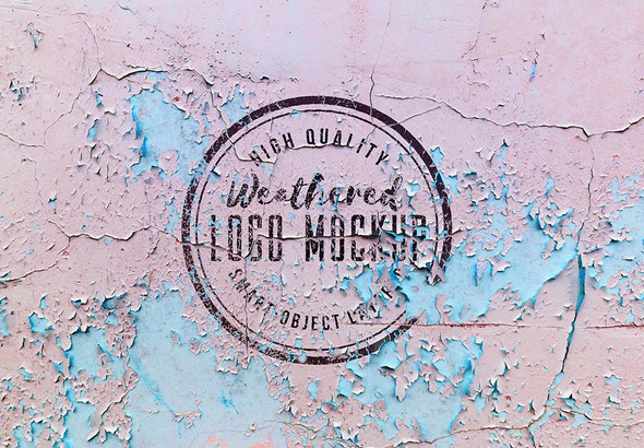 Weathered Logo Mockup in free psd templates