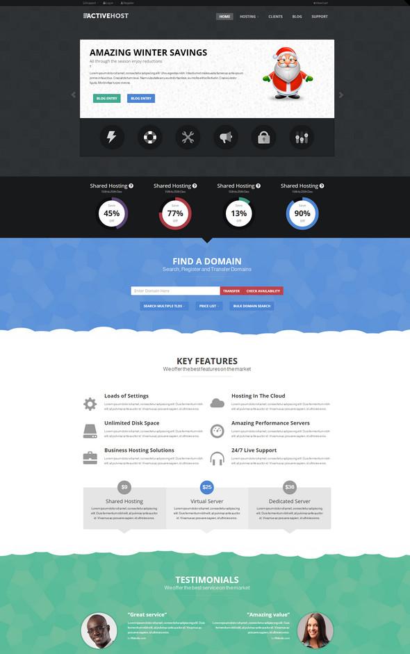 active hosting wordpress theme