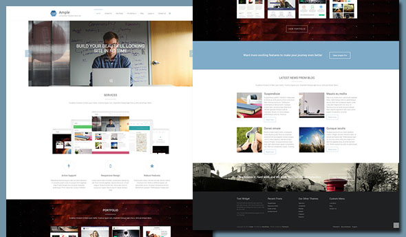 Ample free Multipurpose wordpress Theme