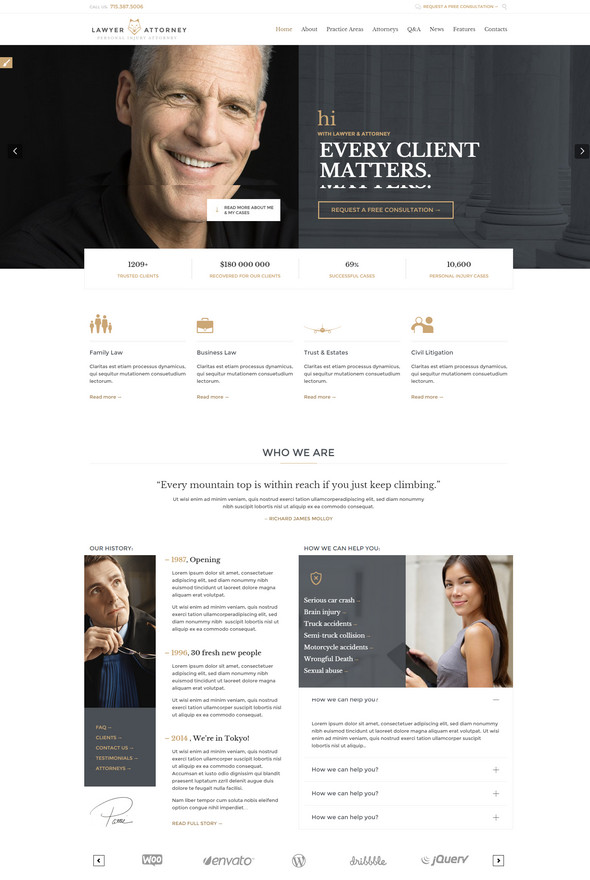 Legal Office Responsive Theme for attorney