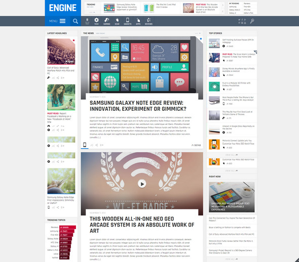 flat magazine wordpress theme
