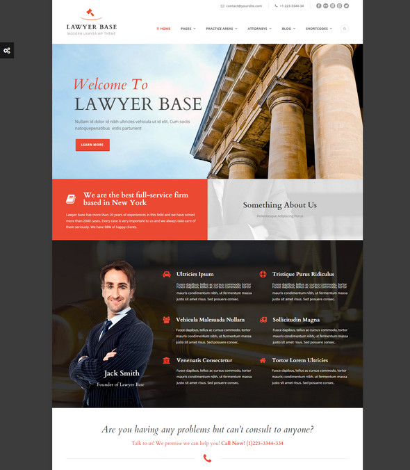 wordpress theme for law firms