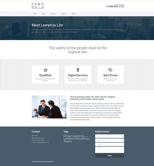 lawyer lite wordpress theme