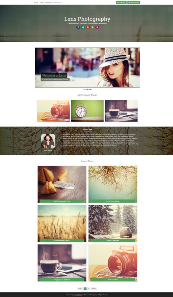 lens - free photography theme