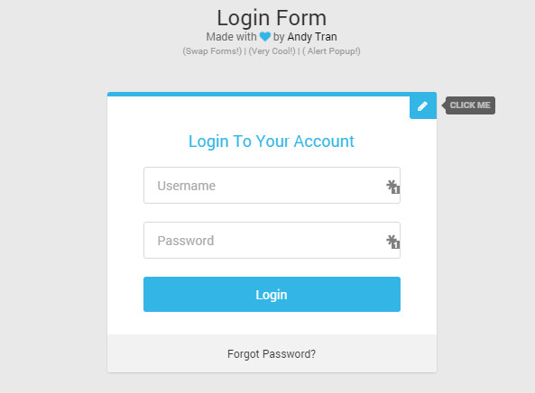 free css3 login template