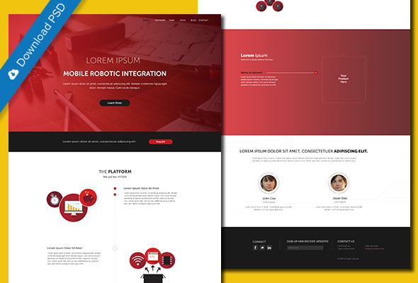 psd website template for business