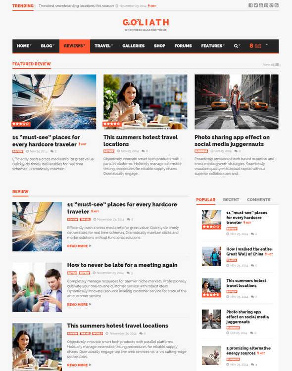 GOLIATH - Ads Optimized News Reviews Magazine