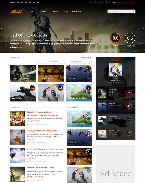 Gauge Multi-Purpose Review Theme