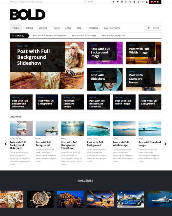 WP Bold WordPress Magazine Review Theme