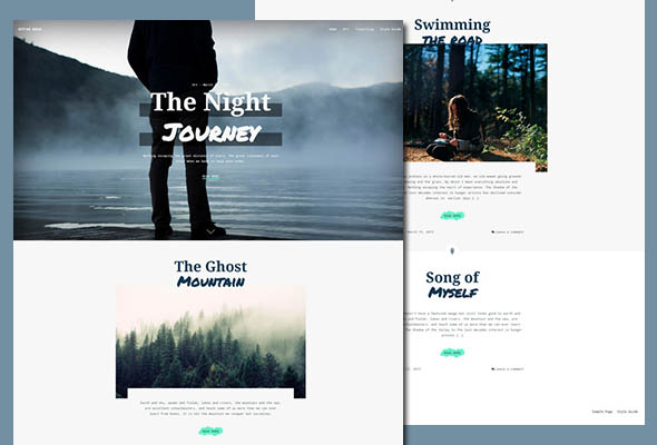 Adler personal blogging theme
